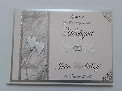 Aktiv Hardcover-gästebuch/fotoalbum, Hochzeit, Erinnerung, Geschenk, Rosa-silber,dina5 Weich Und Leicht