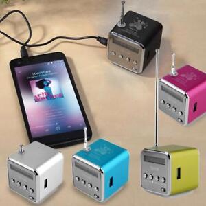 Mp3 Player Mini Lautspr Elektronik Lcd Speaker Radio Lautsprecher Usb Musik Box Ebay