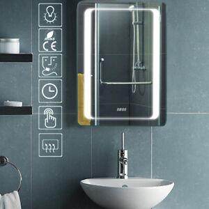 Badezimmer Spiegelschrank Weiß LED Beleuchtung Badspiegel ...