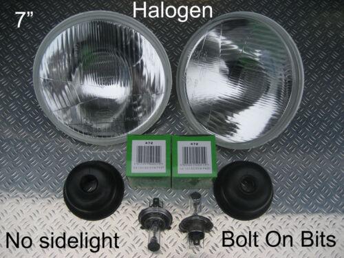 """7/"""" Halogen Headlights LandRover Defender 90//110 no sidelight version"""