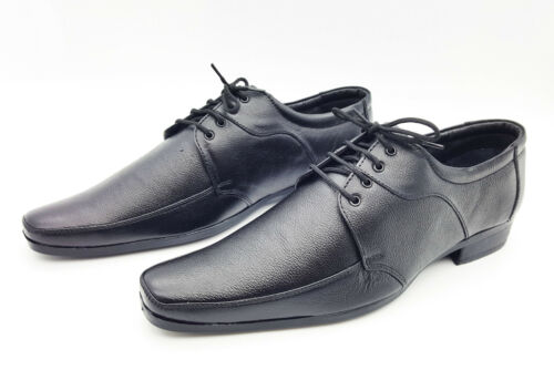Cuir Formelle Adolescent À Lacets 7 Collage Uk En Adulte Adolescent Chaussures Véritable Ecole 0SURAwq