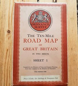 The-Ten-Mile-Road-Map-of-Great-Britain-Ordnance-Survey-OS-SHEET-1-1946