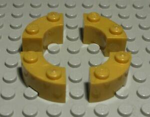 LEGO Stone 1x2 Round Gold 4 Piece (1736#) | eBay