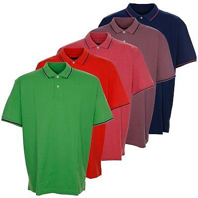 Unito Tom Rusborg Polo Polo Shirt Uomo A Maniche Corte Plus Dimensione-mostra Il Titolo Originale Crease-Resistenza