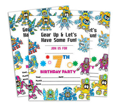 Birthday Invitation Card 28 Pcs Blank Invites Printable Party Supplies Ds In90g Ebay