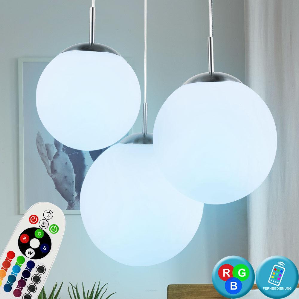 LED Lámpara de Bola de Cristal Colgante Living Dormitorio Rgb Control Remoto Dimmer Luz Nuevo