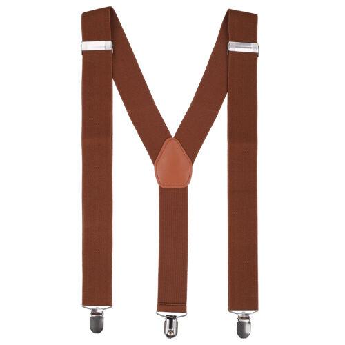 35mm Wide Adjustable Elasticated Heavy Duty Mens Suspenders Braces Trouser Suit