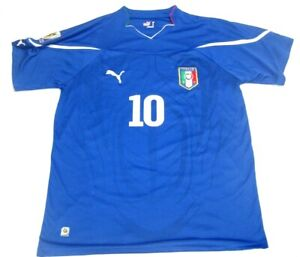 Puma-Italy-South-Africa-World-Cup-Gilardino-Jersey-De-rossi-size-L