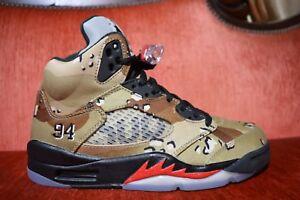 the latest 9ce3a 0b4ef Details about MISMATCH Supreme x Nike Air Jordan 5 V Retro Desert Camo Size  7 7.5 824371-291