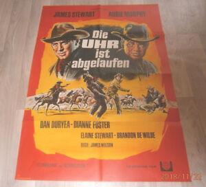 A1 Filmplakat  DIE UHR IST ABGELAUFEN   ,JAMES STEWART,AUDIE MURPHY