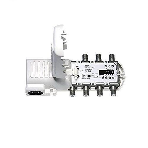 Amplificador de vivienda UHF con 6 salidas Blanco