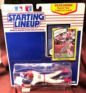 St. Louis Cardinals Vince Coleman 1990 Starting Lineup w Rookie Collectors Card