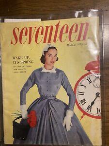 Early Sylvia Plath Publication In Vintage Seventeen Magazine March 1953