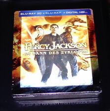 PERCY JACKSON IM BANN DES ZYKLOPEN 3D STEELBOOK BLU RAY 3D + 2D NEU & OVP