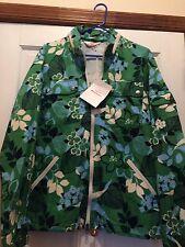 Mens Nwt Battenwear Team Jacket Green Floral  Print Size Medium