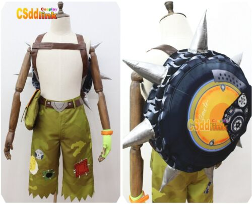 Over OW Junkrat Cosplay Costume with bag yellow