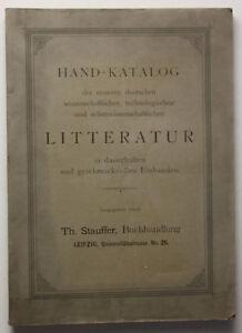 Hand-Katalog-der-neueren-deutschen-Literatur-1904-Buecherkatalog-Register-sf