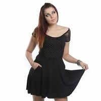 Vito Ladies Dress Poizen Industries Black Short sleeve Short mini lenght dress