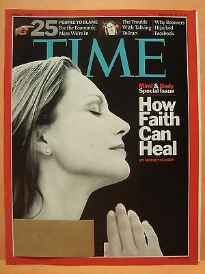 TIME MAGAZINE FEBRUARY 23 2009 MIND & BODY SPECIAL ISSUE HOW FAITH CAN HEAL