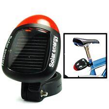 Luce faro fanalino posteriore pannello cella solare bici bicicletta ciclismo hsb