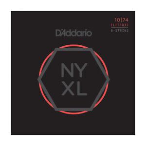 D'Addario NYXL1074 Box Nickel LightHeavy 8String 010-074 Electric Guitar Strings