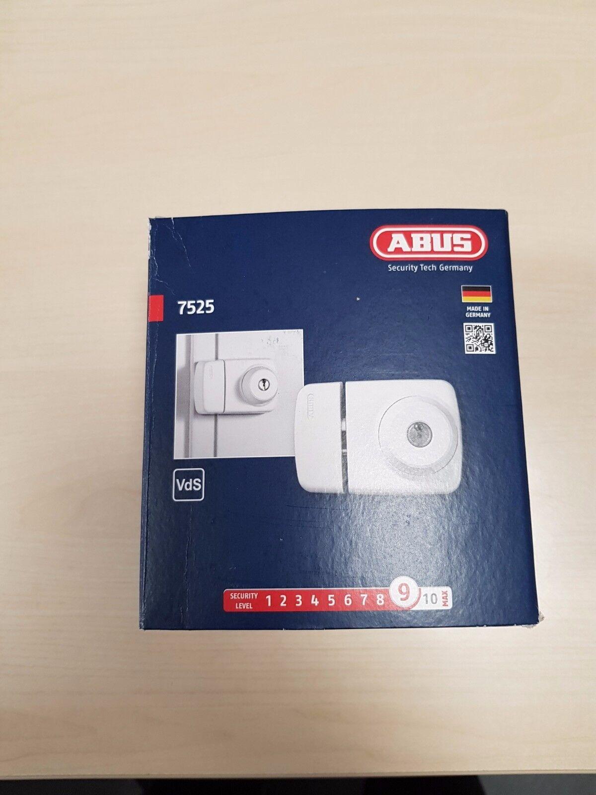 ABUS Tür Zusatzschloss 7525 Verriegelung innen und außen mit Schlüssel