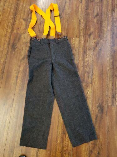 Unisex Woolrich Wool Hunting Pants w Suspenders 30