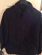 Tommy Hilfiger Mens Black Trench Coat Rain Jacket w/Removable Liner S MSRP $275