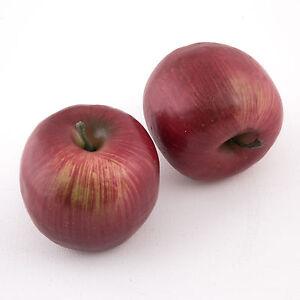 Dekoaepfel-Kunstapfel-Rot-Apfel-Kunstobst-kuenstliche-Fruechte-Obst-Deko