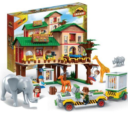Car Safari Tour Kinder Geschenk Konstruktion Spielzeug Bausteine Baukästen 6651