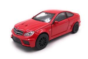 Modellino-Auto-Mercedes-Benz-AMG-C63-Black-S-Rosso-Auto-Scala-1-3-4-39-Licenza