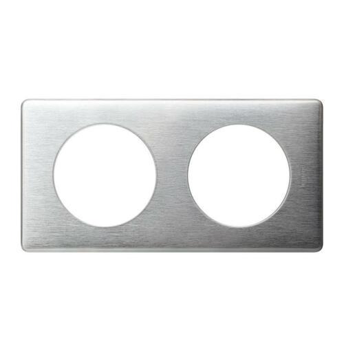 2 postes Plaque Céliane Métal Aluminium