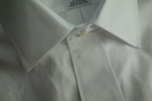 NWOT Brooks Brothers Non Iron White Point Collar 15.5-34 Regular Fit MSRP $92