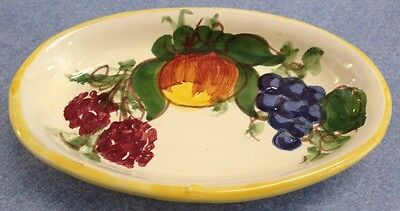 Vietri Pottery-6inch Oval Enza Yellow.Made/Painted by hand in Italy