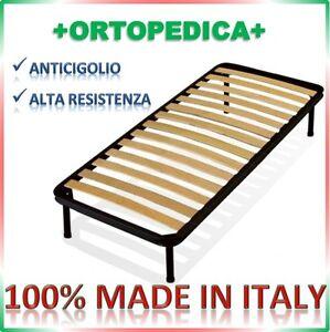 Rete a doghe letto 80x190 singola ortopedica con piedi altezza a scelta ebay - Piedi per rete letto ...