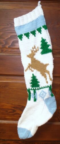 Hand knitted personalized Christmas stockings