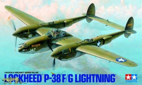 Tamiya 61120 Lockheed P-38 F//G Lightning 1:48