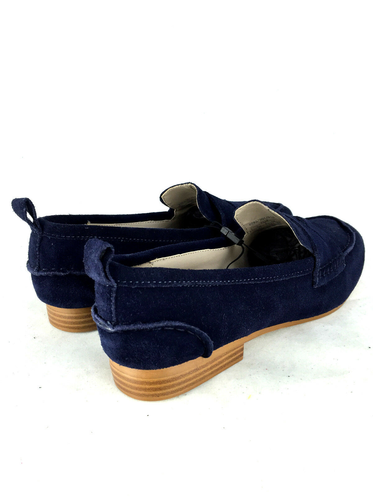 Zara Blaues Eur41 Leder Mokassin Schuhe Faulenzer-Wohnungen Größe UK8 Eur41 Blaues US10 9343b5