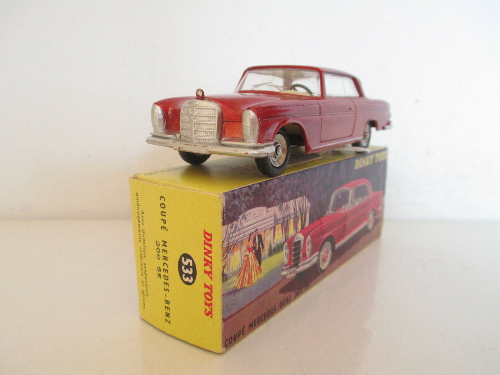 FRENCH DINKY 533 MERCEDES BENZ 300 SE COUPE MIB 9 EN BOITE L@@K