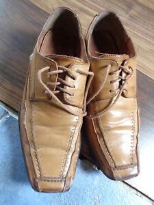 the best attitude 4dea5 5418e Details zu Leder Century Slipper Sneaker braune/beige Anzug Herren Schuhe  Herbst Gr.42