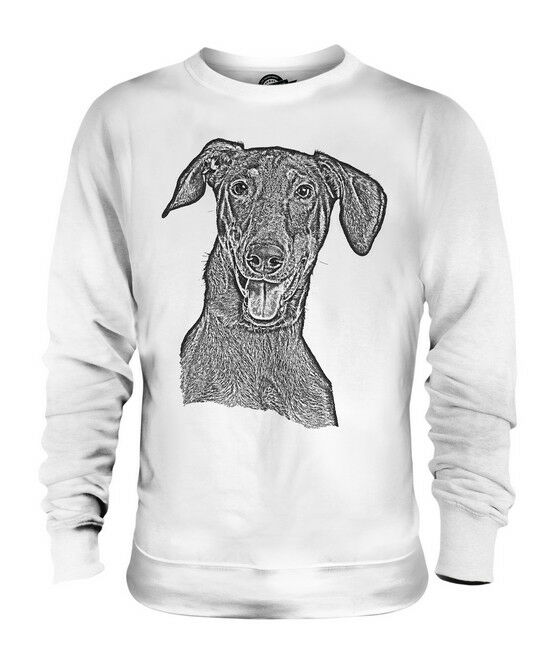 DOBERMAN PINSCHER SKETCH UNISEX PRINTED SWEATER TOP GREAT GIFT FOR DOG LOVER