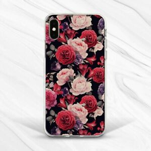 Vintage Red Roses Flowers Retro Girl Case For iPhone 6 7 8 Xs XR 11 Pro Plus Max