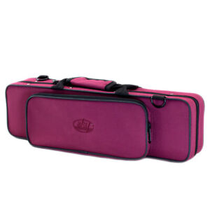 New-High-Quality-C-Flute-Lightweight-Case-w-Side-Pocket-Handle-Strap-Burgundy