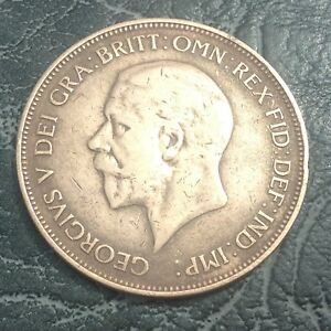 1935-King-George-V-One-Penny-Coin