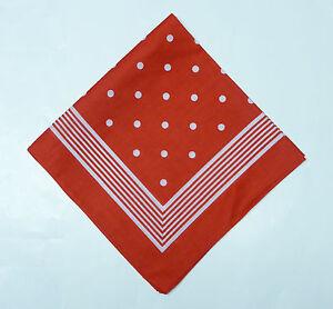 Panuelo-panuelo-Bandana-034-Grosse-puntos-034-rojo-54-cm