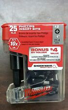 Milwaukee 48 32 5009 25pc Magnetic Bit Holder With 2 Impact Phillips Bits