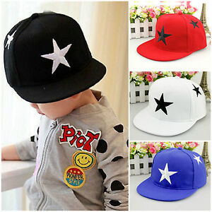 Kids Boys Girls Baseball Cap Hip Hop Snapback Casual Infant ... 5d16c22b10d1