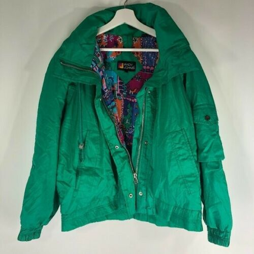 Vintage Andy Johns Green Swishy Windbreaker Medium