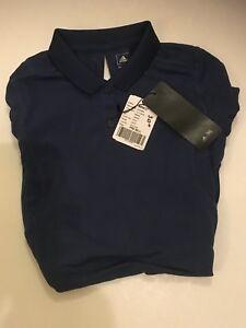 db27992705c657 Das Bild wird geladen Adidas-Damen-Poloshirt-blau-SZ-Small-b88637