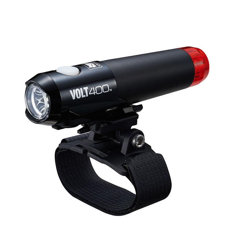 Cateye VOLT400 Headlight Cycling Helmet Front & Rear Light USB Rechargeable